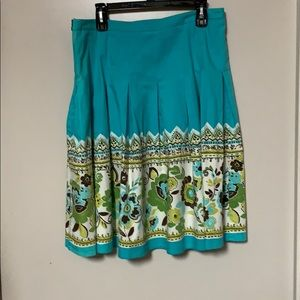 Unique (Germany ) plated Turquoise Bleu skirt
